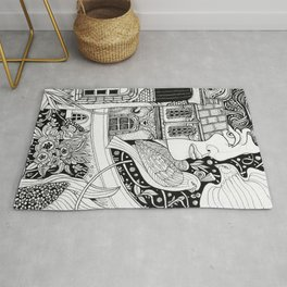 Women and birds Rug