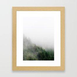 Foggy Oregon forest Framed Art Print