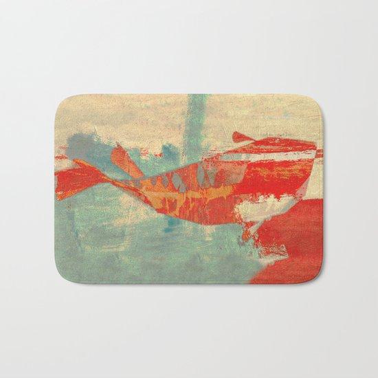 穏やかな海で泳ぐ (Swimming in Calm Waters) Bath Mat