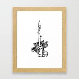 Hot Sauce Pistol Framed Art Print