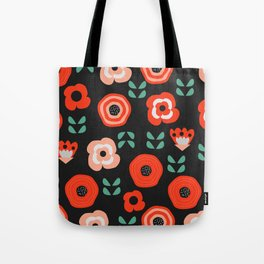 Midnight floral decor Tote Bag