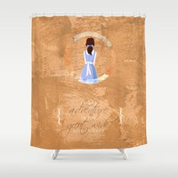 belle Shower Curtains featuring Belle by Camilla Kipp