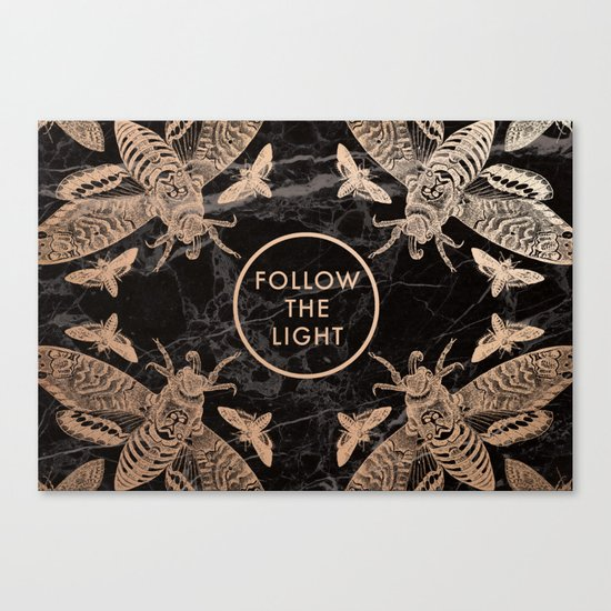 Society6 Follow the Light Quote Canvas Print