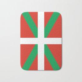 Basque Country: Euskaldun Flag Bath Mat