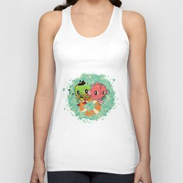The Pond Lovers - Mr. Froggy and Ms Goldfish Unisex Tank Top