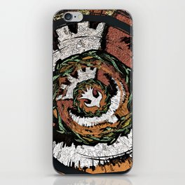 The Holy Dove & Crown Of Thorns iPhone Skin