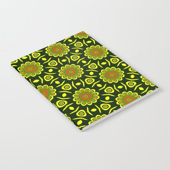 Cute ethnic floral pattern Notebook