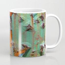Flaking Paint on Rust Coffee Mug