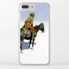"""Frederic Remington Western Art """"The Scout"""" Clear iPhone Case"""