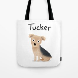 "Custom Dog Art ""Tucker"" Tote Bag"