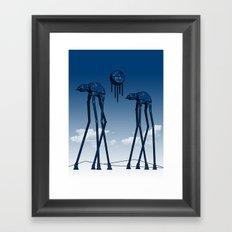 Dali's Mechanical Elephants - Blue Sky Framed Art Print