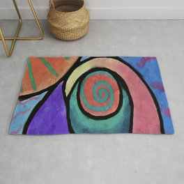 Sunny Abstract Digital Painting Rug
