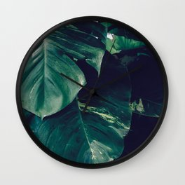 Green Leaves - Bali - Travel Photography Wall Clock