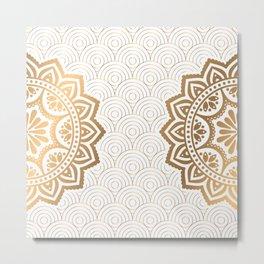 Gold Mandala 13 Metal Print