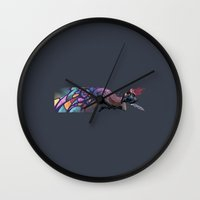 anime Wall Clocks featuring Anime by Elena Naylor