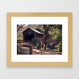 Honey Run Covered Bridge Farewell Framed Art Print