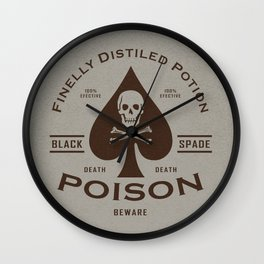 Black Spade Poison Wall Clock
