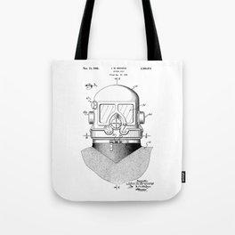 patent art Browne 1945 Diving suit Tote Bag
