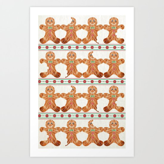 gingerbread man Art Print