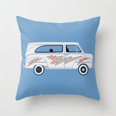 Grease Van Lightning Throw Pillow