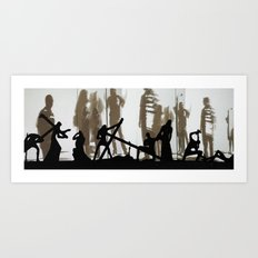 silhouette's Art Print