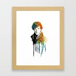 SHERLOCK portrait B #WATERCOLOR Framed Art Print