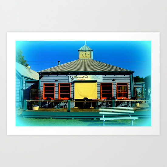 Dine in or Out in this colourful Restaurant! Art Print