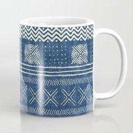 Mud Cloth Geometric Stripe Navy Coffee Mug