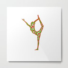 "yoga ""centred"" Metal Print"