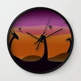 Dragon Marshes Wall Clock