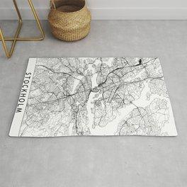 Stockholm White Map Rug