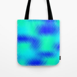 Blue and Green Patches Tote Bag