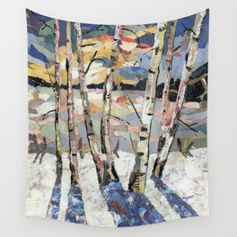 Birches in witnter Wall Tapestry