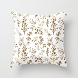 Summer herbs Throw Pillow