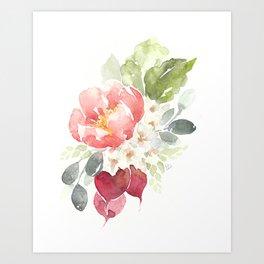 Watercolor Radish Bouquet Art Print