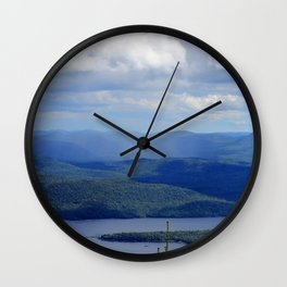 Rain Across The Valley Wall Clock