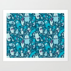 Monster Pattern Art Print