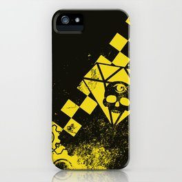 Black Leather Yellow Leather 3 iPhone Case