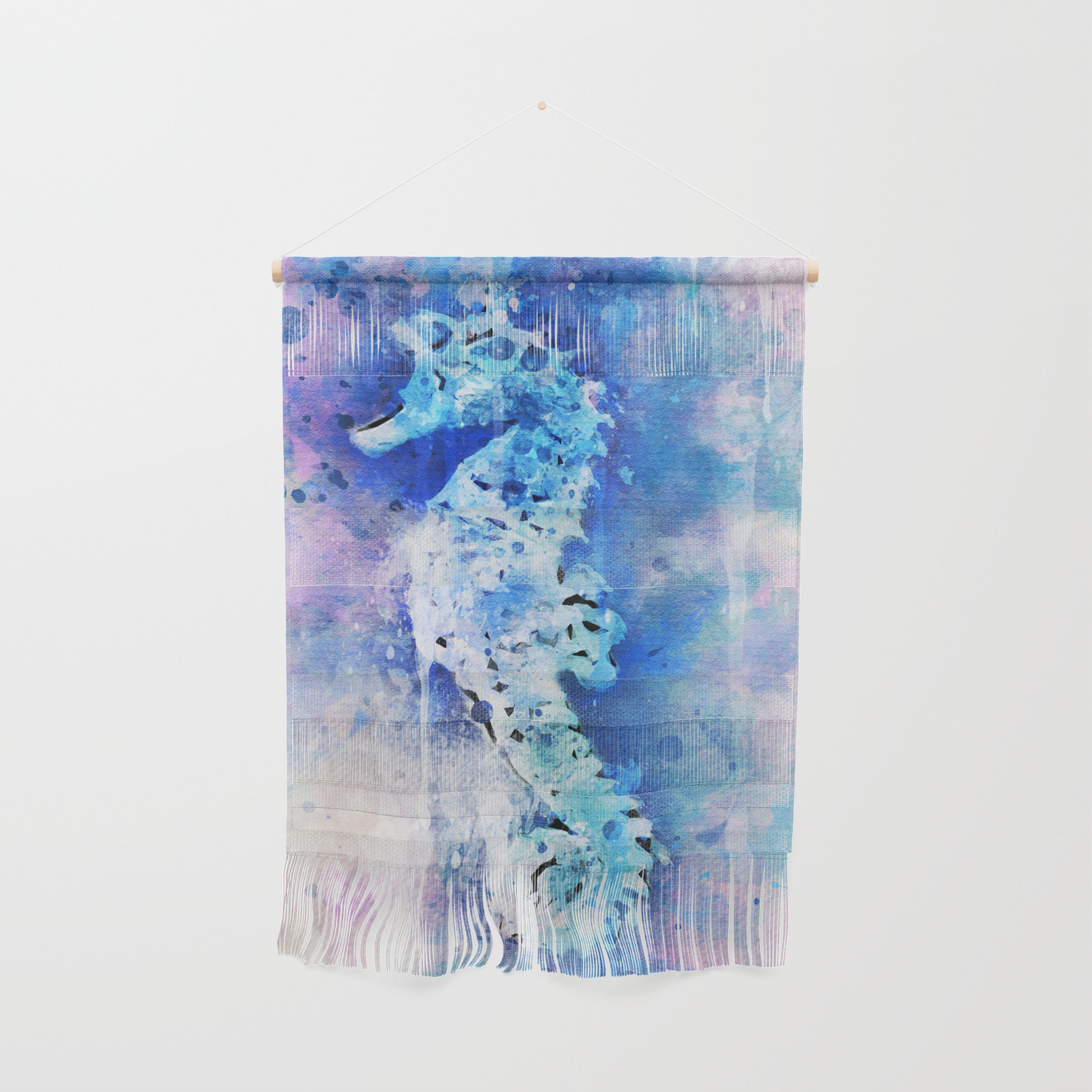 Magical Watercolor Sea Horse Painting Wall Hanging By Steelartstudios Society6