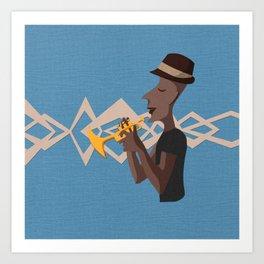 Jazz Trio - Trumpet Art Print