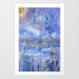 Icy New Year Art Print