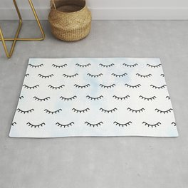 Sleeping Eyes and Eyelashes Rug