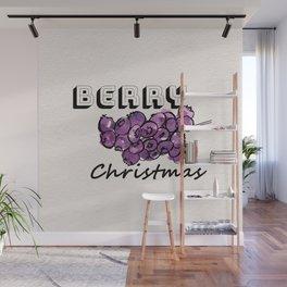 Happy berry christmas III Wall Mural