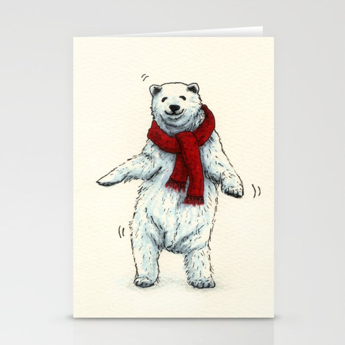 The polar bears wish you a Merry Christmas Stationery Cards by ...