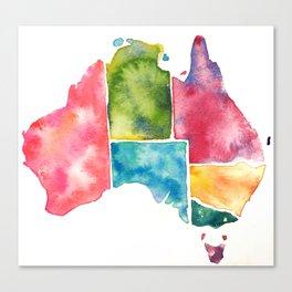 Watercolour Australia Canvas Print