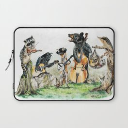 """ Bluegrass Gang "" wild animal music band Laptop Sleeve"