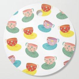 Tea cups Cutting Board