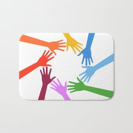 United Hands in Action Bath Mat