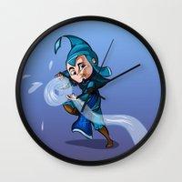 bender Wall Clocks featuring Water Bender by MDDesigns