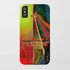 Golden gate (Abstract) iPhone X Slim Case